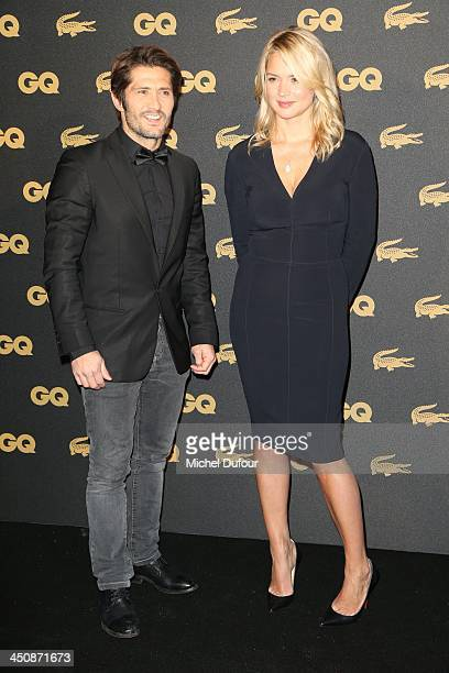 Bixente Lizarazu and Virginie Effira attend GQ Men Of The Year Awards 2013 Photocall At Museum d'Histoire Naturelle at Museum d'Histoire Naturelle on...
