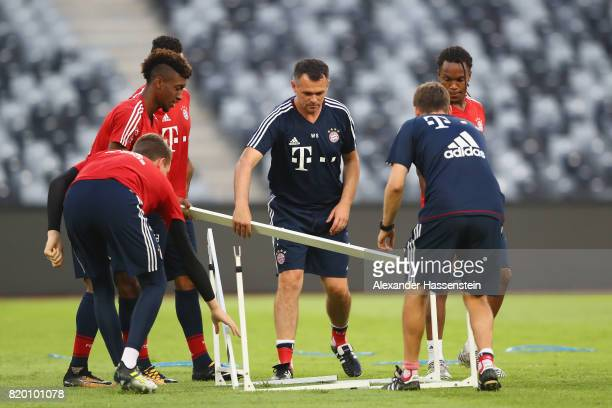 Bixente Lizarazu assistent coach of FC Bayern Muenchen during a training session at Shenzhen Universiade Sports Centre during the Audi Summer Tour...