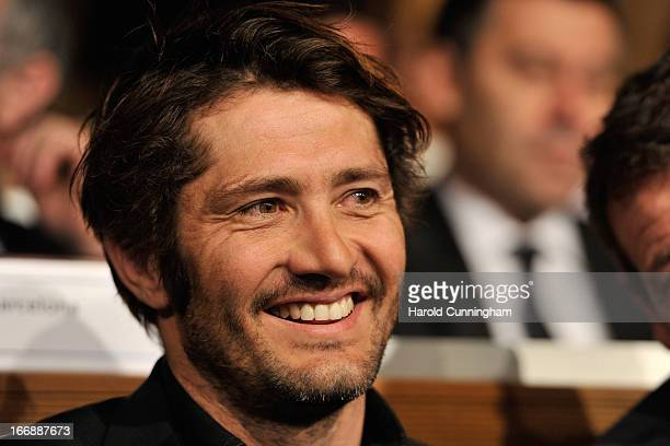 Bixente Lizarazu of FC Bayern looks on during the UEFA Champions League and UEFA Europa League semifinal and final draws at the UEFA headquarters on...