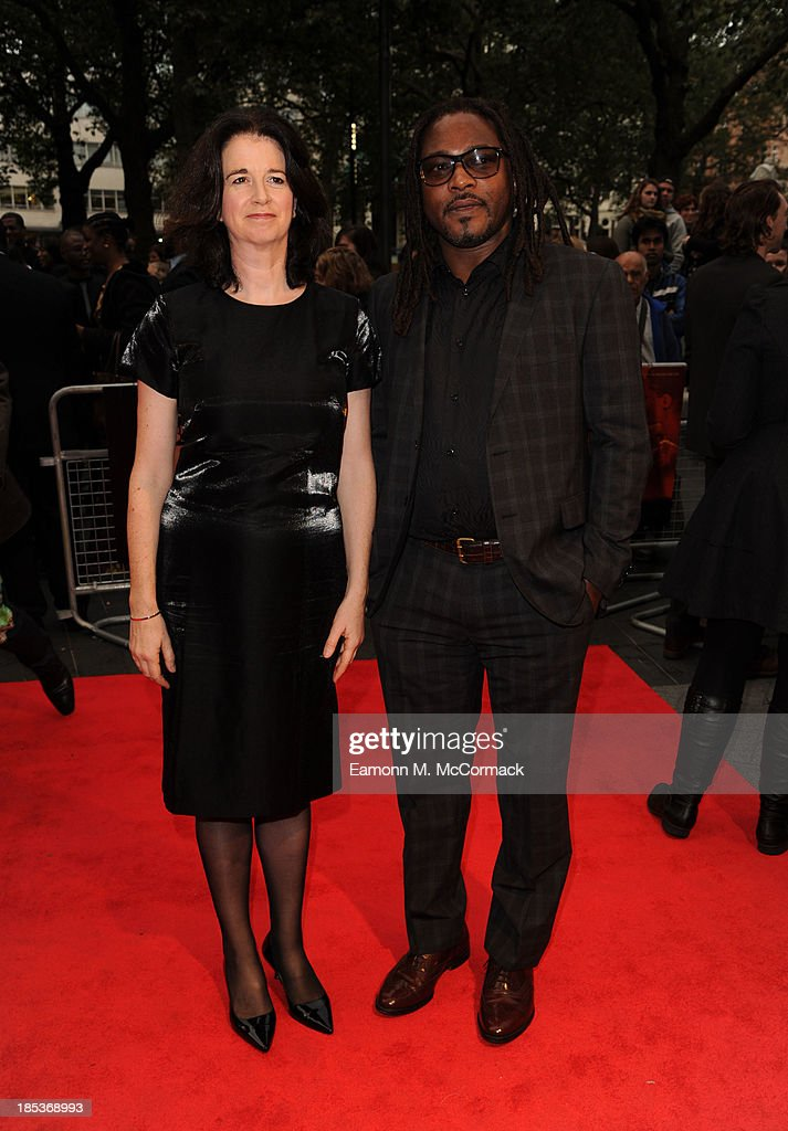 Biyi Bandele (R) attends a screening of 'Half of a Yellow Sun' during the 57th BFI London Film Festival at Odeon West End on October 19, 2013 in London, England.