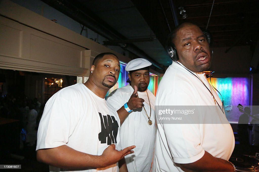 <a gi-track='captionPersonalityLinkClicked' href=/galleries/search?phrase=Biz+Markie&family=editorial&specificpeople=216330 ng-click='$event.stopPropagation()'>Biz Markie</a> (R) and guests attend The Luxury All White Everything party at Metropolitan Nightclub on July 5, 2013 in New Orleans, Louisiana.