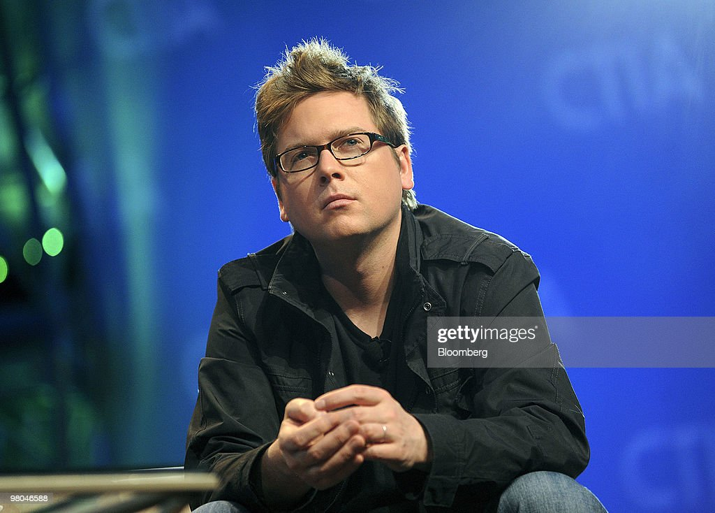 Biz Stone, co-founder of Twitter Inc., speaks during a panel discussion at the CTIA Wireless conference in Las Vegas, Nevada, U.S., on Thursday, March 25, 2010. Amazon.com Inc., EBay Inc. and New York Times Co. will show Twitter updates, or tweets, on their sites, the company announced earlier this month. Photographer: Jacob Kepler/Bloomberg via Getty Images *** Biz Stone