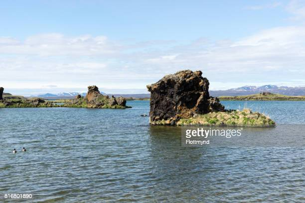 Bizarre lava formations and landscape in Hofdi, Iceland