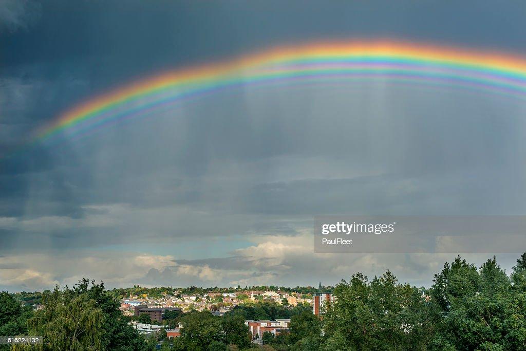 Bizarre Multiple Rainbow : Stock Photo