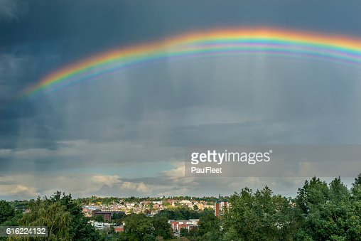 Bizarre Multiple Rainbow : Photo