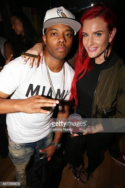 Bizkit and Justina Valentine attend the Lil Durk 2X Listening Session at Quad Studios on July 13 2016 in New York City