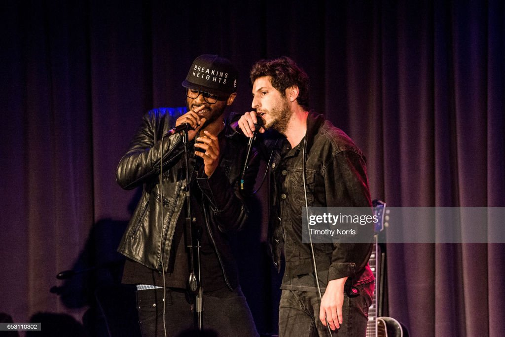 Bizoh and Greg Cahn of Breaking Heights perform during The Music Behind 'Sun Records' at The GRAMMY Museum on March 13, 2017 in Los Angeles, California.