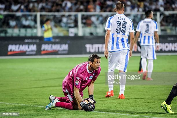 Bizzarri Albano during the Italian Serie A football match Pescara vs SSC Napoli on August 21 in Pescara Italy Photo by Adamo Di Loreto