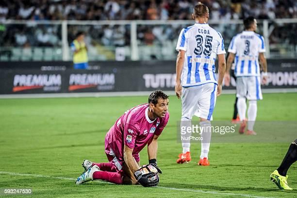 Bizzarri Albano during the Italian Serie A football match Pescara vs SSC Napoli on August 21 in Pescara Italy