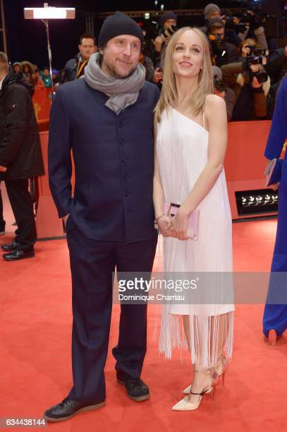 Bjarne Maedel and Friederike Kempter attend the 'Django' premiere during the 67th Berlinale International Film Festival Berlin at Berlinale Palace on...