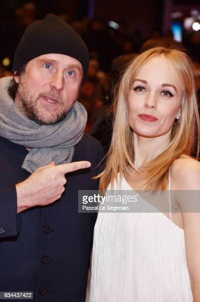 Bjarne Maedel und Friederike Kempter attend the 'Django' premiere during the 67th Berlinale International Film Festival Berlin at Berlinale Palace on...