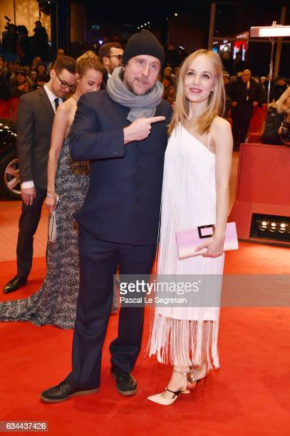 Bjarne Maedel und Friederike Kempter attend the 'Django' premiere during the 67th Berlinale International Film Festival Berlin at Berlinale Palace on...