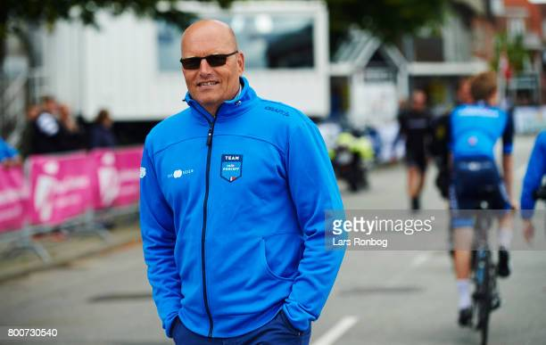 Bjarne Riis of Team VeloConcept prior to the Elite Mens Road Race in the Danish Road Cycling Championships on June 25 2017 in Grindsted Denmark