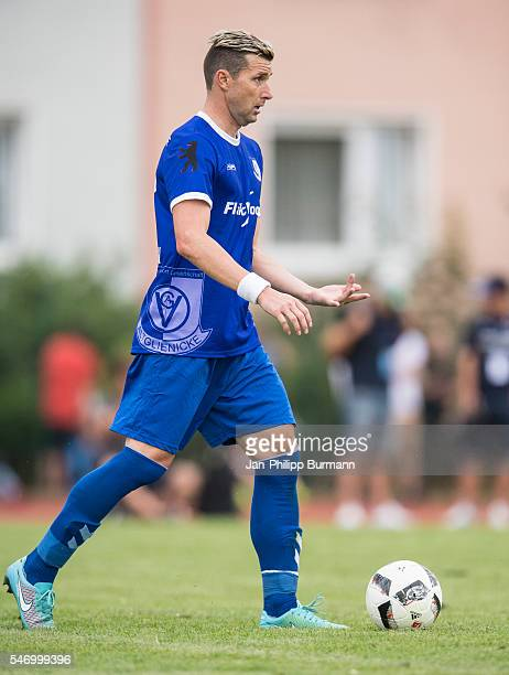 Bjoern Brunnemann of VSG Altglienicke with Ball during the test match between VSG Altglienicke and Werder Bremen on July 12 2016 in Berlin Germany