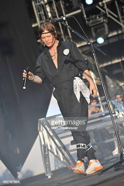 Bjoern Dixgard of Swedish Rock Band Mando Diao performs on stage during the second day of 'Rock am Ring' on June 06 2014 in Nuerburg Germany