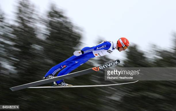 Bjoern Kircheisen of Germany compete in the Men's Nordic Combined Team HS100 during the FIS Nordic World Ski Championships on February 26 2017 in...