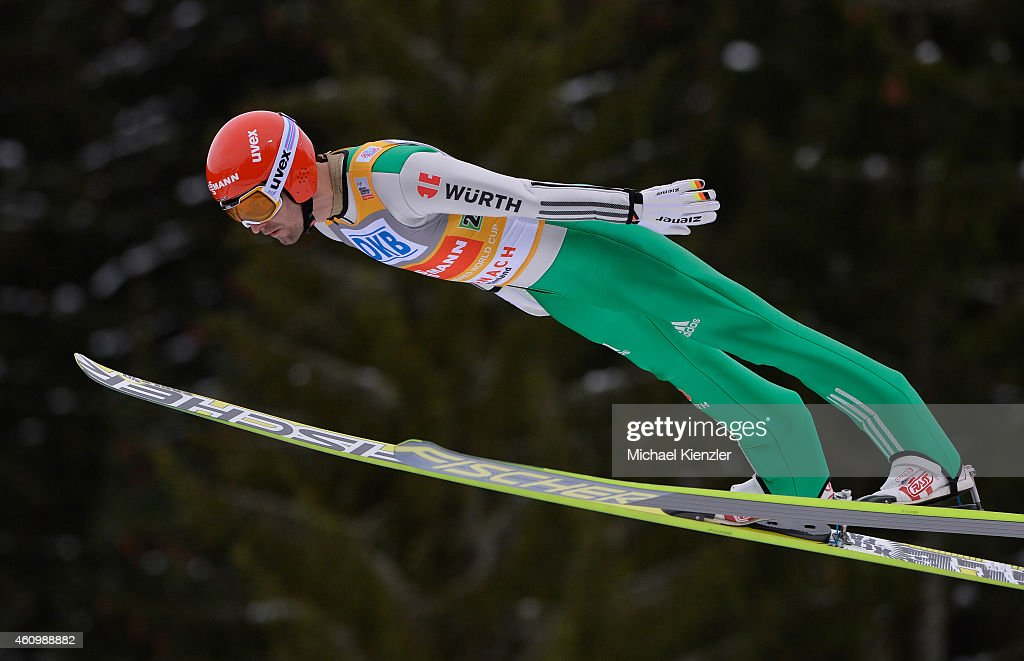 Bjoern Kircheisen of Germany competes during Day One of the FIS Nordic Combined World Cup HS 106 Team Competition on January 3, 2015 in Schonach, Germany.
