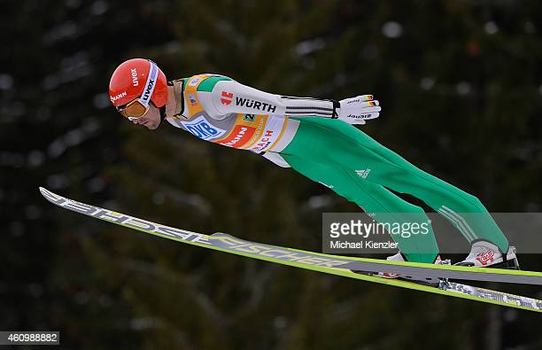 Bjoern Kircheisen of Germany competes during Day One of the FIS Nordic Combined World Cup HS 106 Team Competition on January 3 2015 in Schonach...