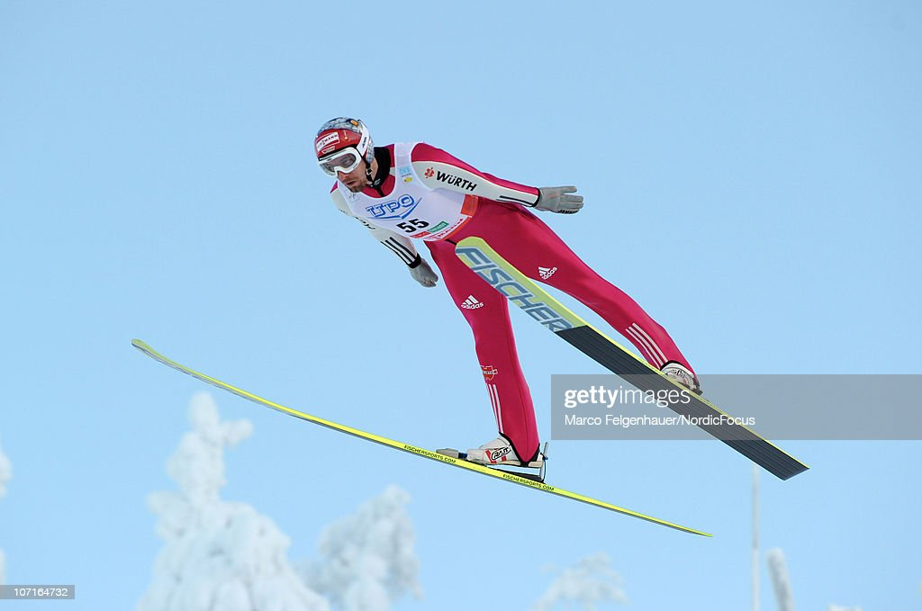 Bjoern Kircheisen of Germany competes in the Gundersen Ski Jumping HS 142/10km Cross Country event during day two of the FIS Nordic Combined World Cup on November 27, 2010, in Kuusamo, Finland.