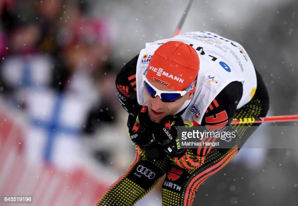 Bjoern Kircheisen of Germany competes in the Men's Nordic Combined Team HS 100 4 x 50km CrossCountry Sprint during the FIS Nordic World Ski...