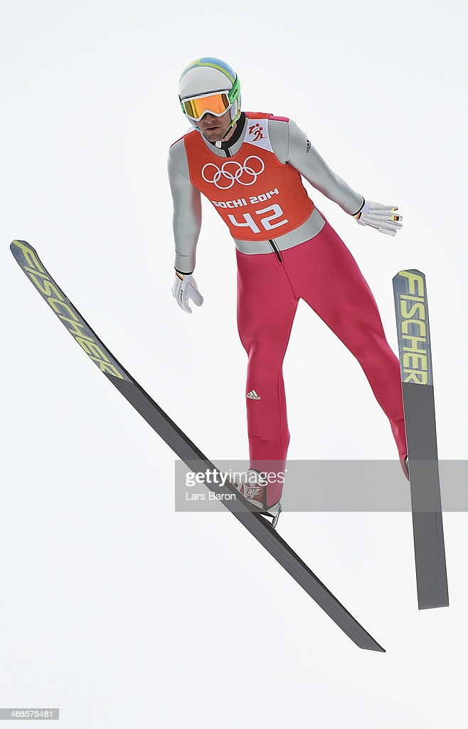 Bjoern Kircheisen of Germany jumps during the Men's Individual Gundersen Normal Hill/10 km Nordic Combined training on day 4 of the Sochi 2014 Winter Olympics at the RusSki Gorki Ski Jumping Center on February 11, 2014 in Sochi, Russia.