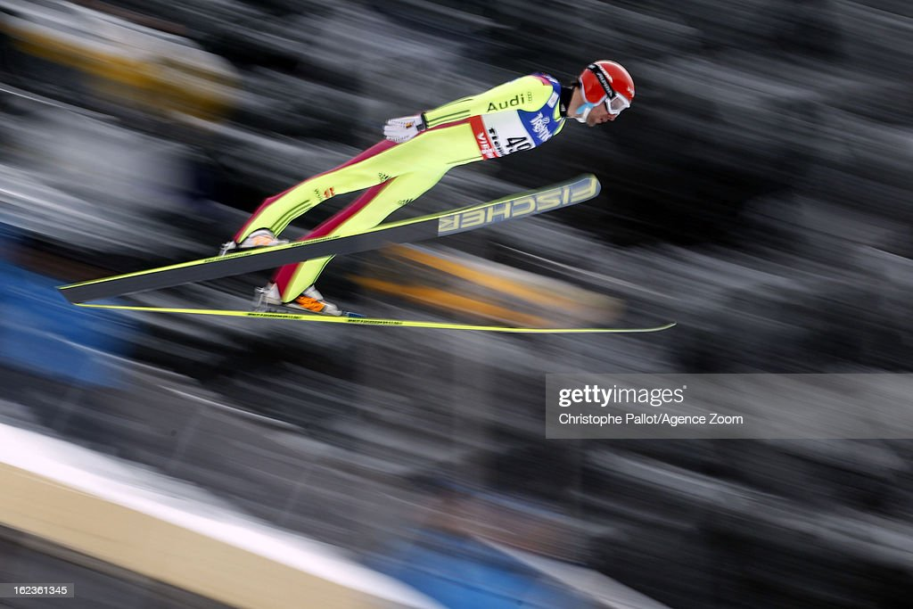 Bjoern Kircheisen of Germany takes the bronze medal competes during the FIS Nordic World Ski Championships Nordic Combined HS106/10km on February 22, 2013 in Val di Fiemme, Italy.
