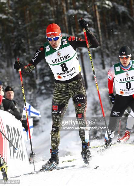 Bjoern Kircheisen of Germany wins the bronze medal during the FIS Nordic World Ski Championships Men's Nordic Combined HS100/10k on February 24 2017...