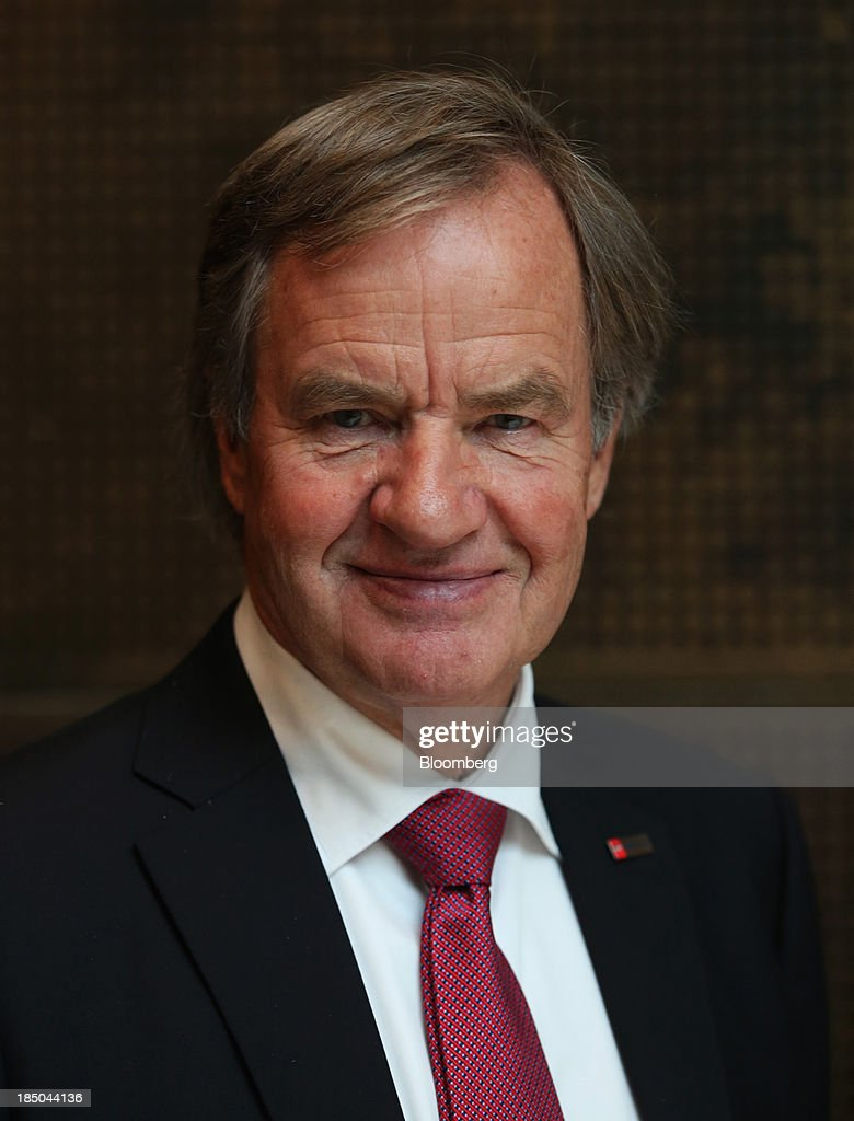 Bjoern Kjos, chief executive officer of Norwegian Air Shuttle AS, poses for a photograph in London, U.K., on Thursday, Oct. 17, 2013. Norwegian Air Shuttle AS will offer flights from London's Gatwick airport to New York, Los Angeles and Fort Lauderdale as it expands a network of discounted long-haul routes using its new fleet of Boeing Co. 787 jetliners. Photographer: Chris Ratcliffe/Bloomberg via Getty Images