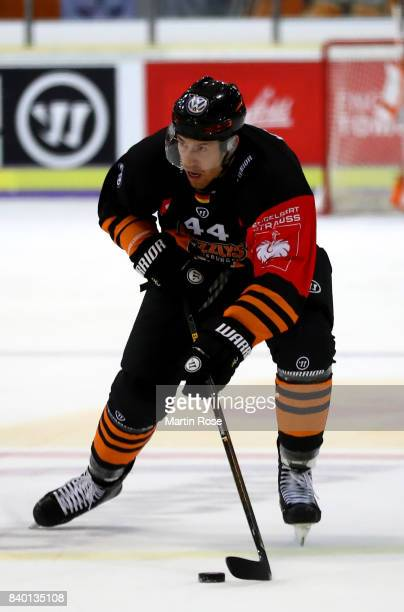 Bjoern Krupp of Wolfsburg skates against Banska Bystrica during the Champions Hockey League match between Grizzlys Wolfsburg and HC05 Banska Bystrica...
