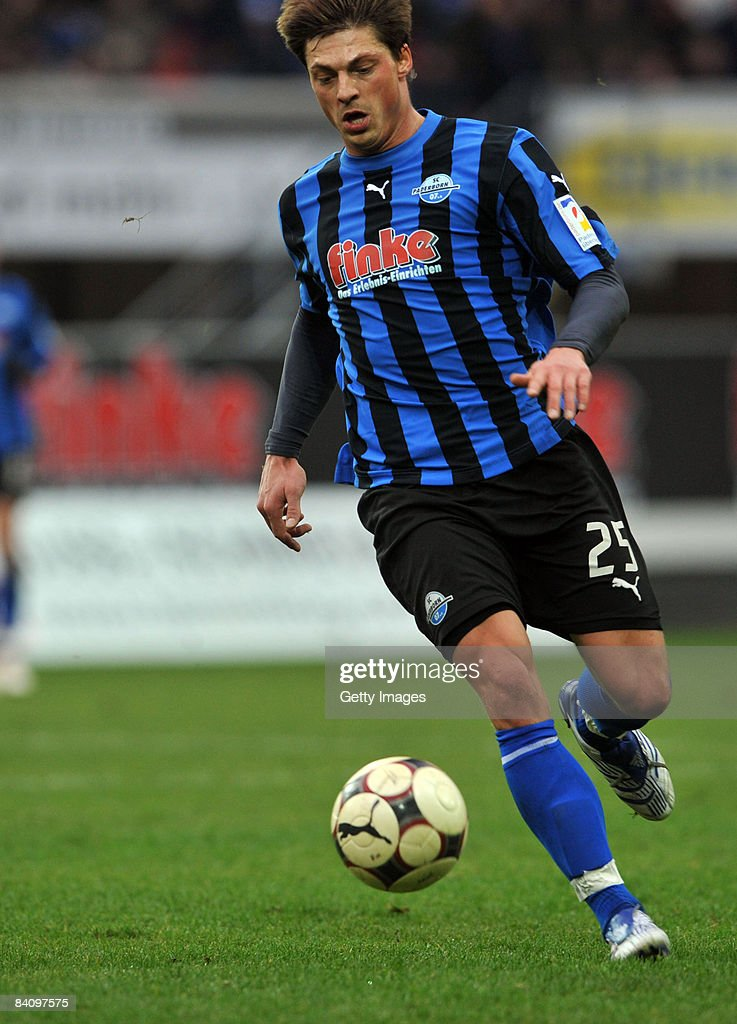 Bjoern Lindemann of Paderborn during the 3 Liga match between SC Paderborn and Fortuna Duesseldorf at the Paragon Arena on December 20 2008 in...
