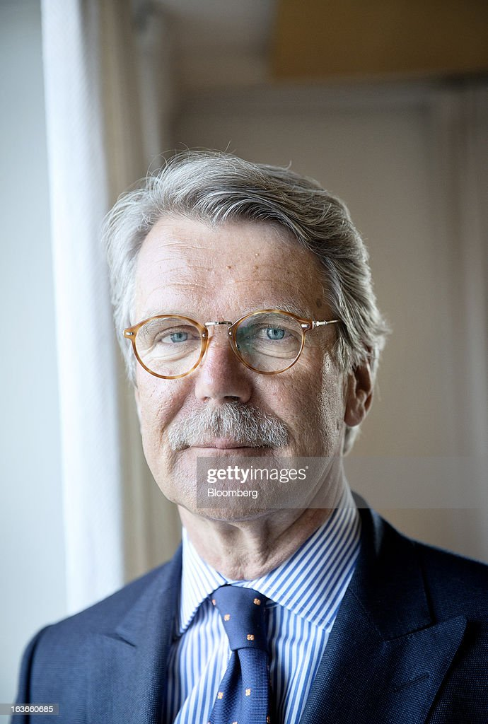 Bjoern Wahlroos, chairman of Nordea Bank AB, poses for a photograph at the company's headquarters in Stockholm, Sweden, on Wednesday, March 13, 2013. Nordea probably will generate 'significant extra capital' in coming years, he said yesterday at the bank's Stockholm headquarters. Photographer: Casper Hedberg/Bloomberg via Getty Images