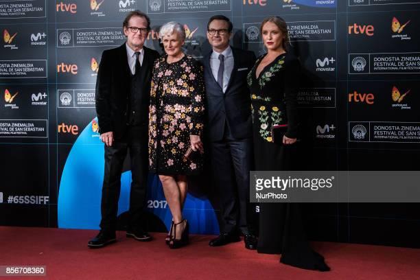 Bjor Runge Glenn Close Christian Slater Annie Starke during 65th San Sebastian Film Festival Closure Gala at Kursaal on September 30 2017 in San...