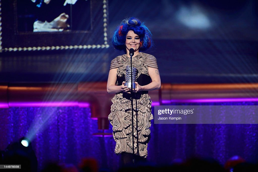 Bjork accepts award for Artist of the Year at the 16th Annual Webby Awards on May 21, 2012 in New York City.