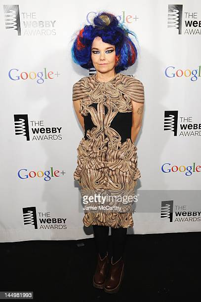 Bjork accepts award for Artist of the Year at the 16th Annual Webby Awards on May 21 2012 in New York City