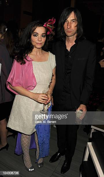 Bjork and Bobby Gillespie attend private dinner hosted by AnOther Magazine to celebrate the latest cover star Bjork at Sake No Hana on September 20...