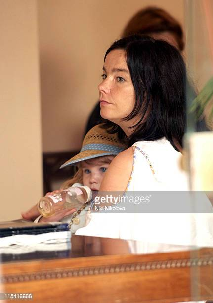 Bjork and daughter Isadora during 2005 Venice Film Festival Celebrity Sightings September 3 2005 at Hotel De Bains in Venice Italy