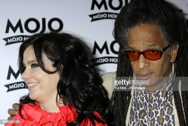 Bjork and Don Letts arrive for the Mojo Honours List award ceremony at The Brewery east London