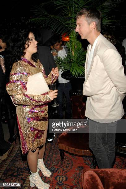 Bjork and Jefferson Hack attend ANOTHER MAGAZINE Dinner/Party at Jane Hotel on September 14 2009 in New York City