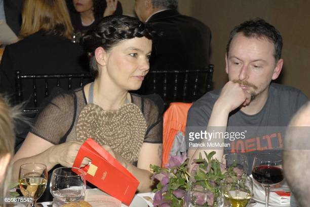 Bjork and Mark Bell attend MEREDITH MONK 2009 Benefit Dinner and Performance at The National Academy Museum and The Solomon R Guggenheim Museum on...