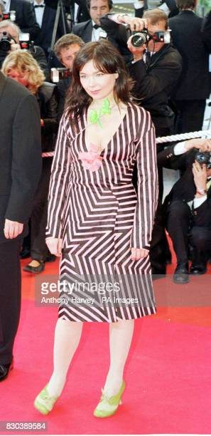Bjork arrives for the Palm D'Or ceremony at the Cannes Film Festival Bjork's debut film Dancer in the Dark won the prestigious Palme D'Or and the...