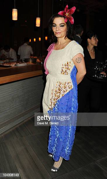 Bjork attends private dinner hosted by AnOther Magazine to celebrate the latest cover star Bjork at Sake No Hana on September 20 2010 in London...