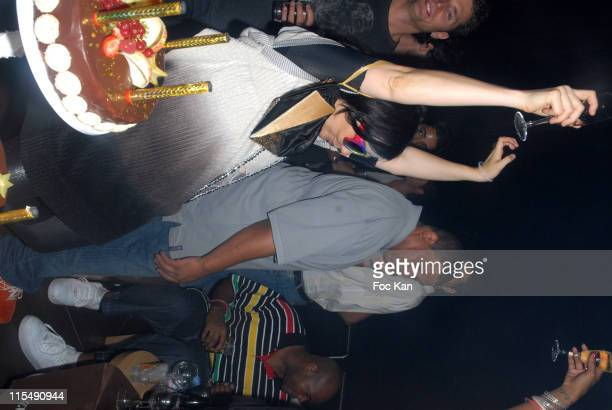 Bjork attends the Kelis Official ' Paris en Seine ' Concert After show and Birthday Party at the Aqua Club Trocadero on August 26 2007 in Paris France