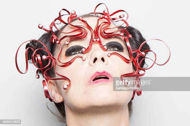 Bjork attends the 'Making of Bjork Digital' at the National Museum of Emerging Science on June 28 2016 in Tokyo Japan In the event Bjork delivered...
