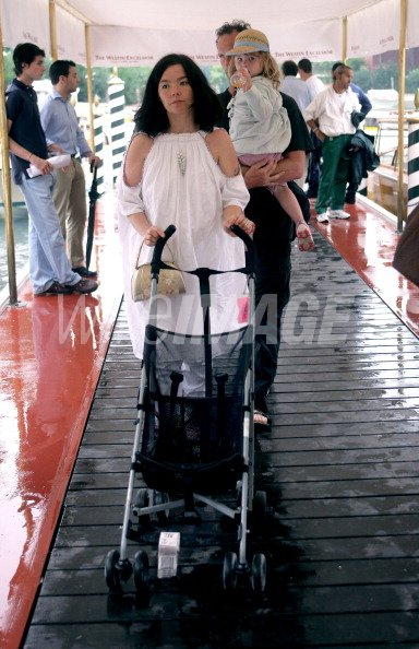 Bjork daughter Isadora and Matthew Barney during 2005 Venice Film