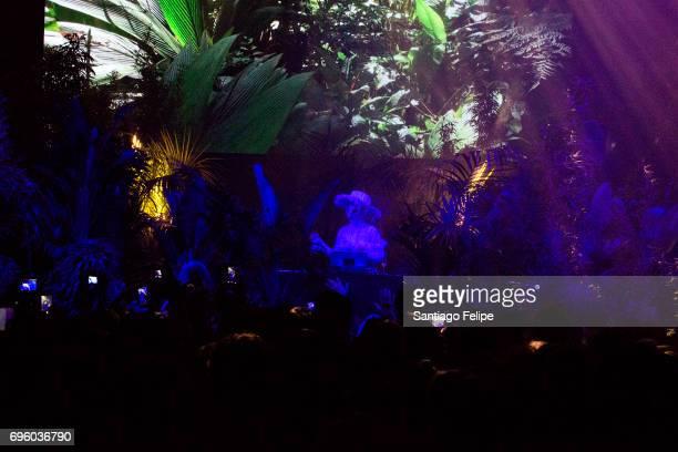 Bjork DJs onstage during Sonar Festival 2017 on June 14 2017 in Barcelona Spain