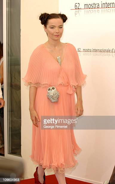 Bjork during 2005 Venice Film Festival 'Drawing Restarint 9' Photocall at Casino Palace in Venice Lido Italy
