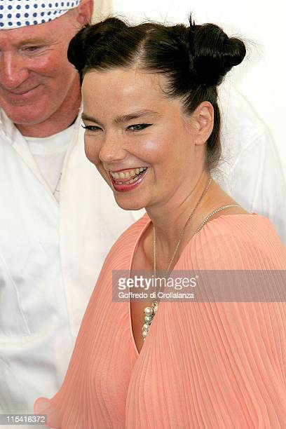 Bjork during 2005 Venice Film Festival 'Drawing Restraint 9' Photocall at Venice Lido in Venice Italy