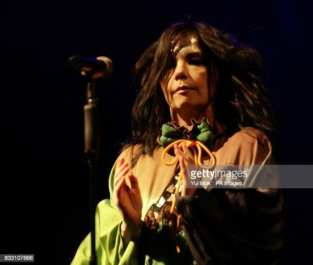 Bjork during her performance on the Other Stage at the 2007 Glastonbury Festival at Worthy Farm in Pilton Somerset