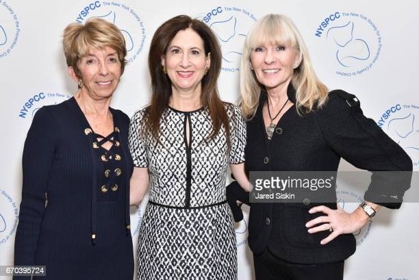 Bjork Edith Dr Penny Grant and Maarit Glocer attend New York Society for the Prevention of Cruelty to Children 2017 Spring Luncheon at The Pierre...