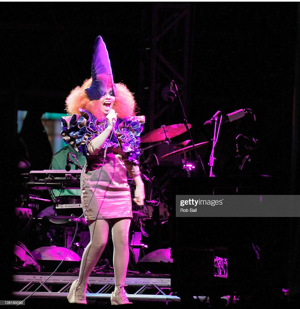 Bjork headlines on day four of Bestival at Robin Hill Country Park on September 11, 2011 in Newport, Isle of Wight.